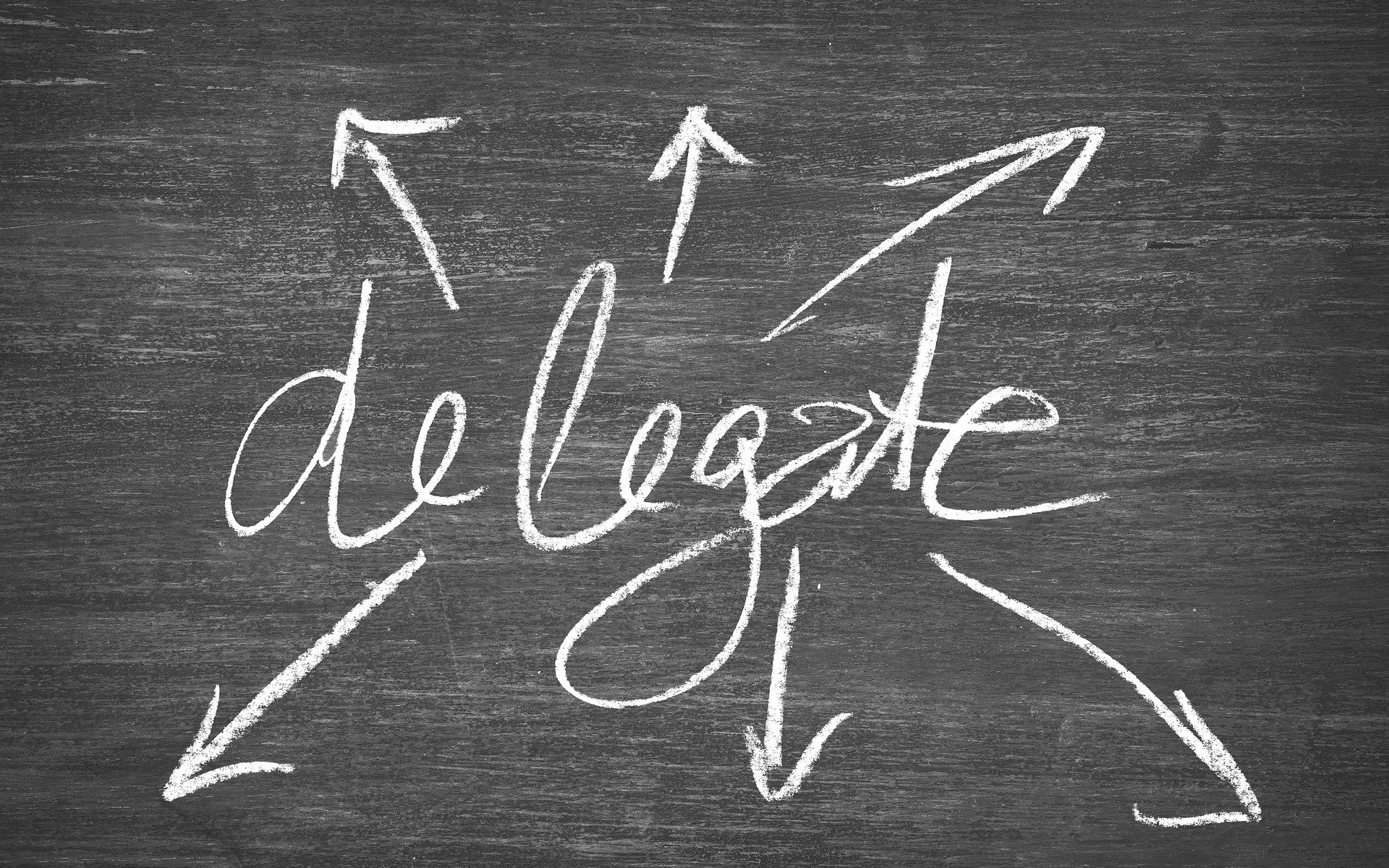 "Image reprenant le texte ""Delegate"""